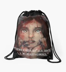 Sin to Kill a Mockingbird Drawstring Bag