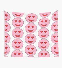 Sweet Happy Emoji Wall Tapestry