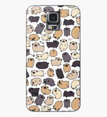 Mops-Leben-Gekritzel Hülle & Klebefolie für Samsung Galaxy