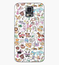 Wintertiere mit Schals Gekritzel Hülle & Klebefolie für Samsung Galaxy