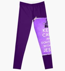 Keep Calm And don't fcuk with the Jesus Leggings