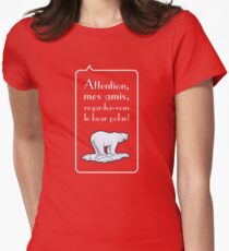 le bear polar speech bubble/transparent/red small T-Shirt