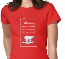 le bear polar speech bubble/transparent/red small Womens Fitted T-Shirt