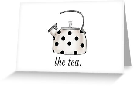 The tea kettle gossip drama pun chic fashionable polka dot kate the tea kettle gossip drama pun chic fashionable polka dot kate spade inspired by leo and m4hsunfo
