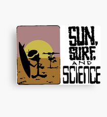 Sun, Surf and Science Canvas Print