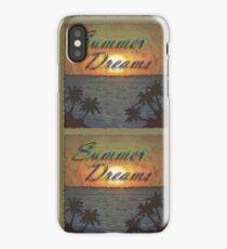Summer Dreams Retro Surf Design   iPhone Case