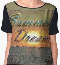 Summer Dreams Retro Surf Design   Chiffon Top