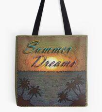 Summer Dreams Retro Surf Design   Tote Bag