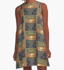 Summer Dreams Retro Surf Design   A-Line Dress