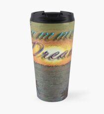 Summer Dreams Retro Surf Design   Travel Mug
