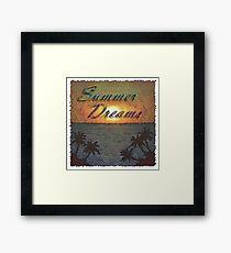 Summer Dreams Retro Surf Design   Framed Print