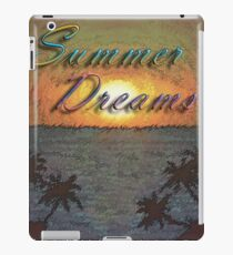 Summer Dreams Retro Surf Design   iPad Case/Skin