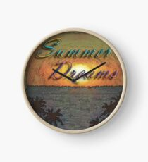 Summer Dreams Retro Surf Design   Clock