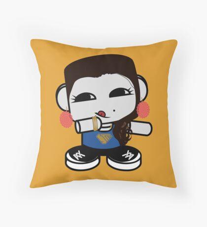 Naka Do O'BOT Toy Robot 3.0 Throw Pillow