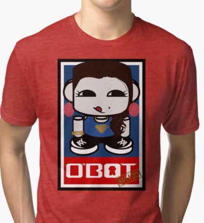 Naka Do O'BOT Toy Robot 2.0 Tri-blend T-Shirt