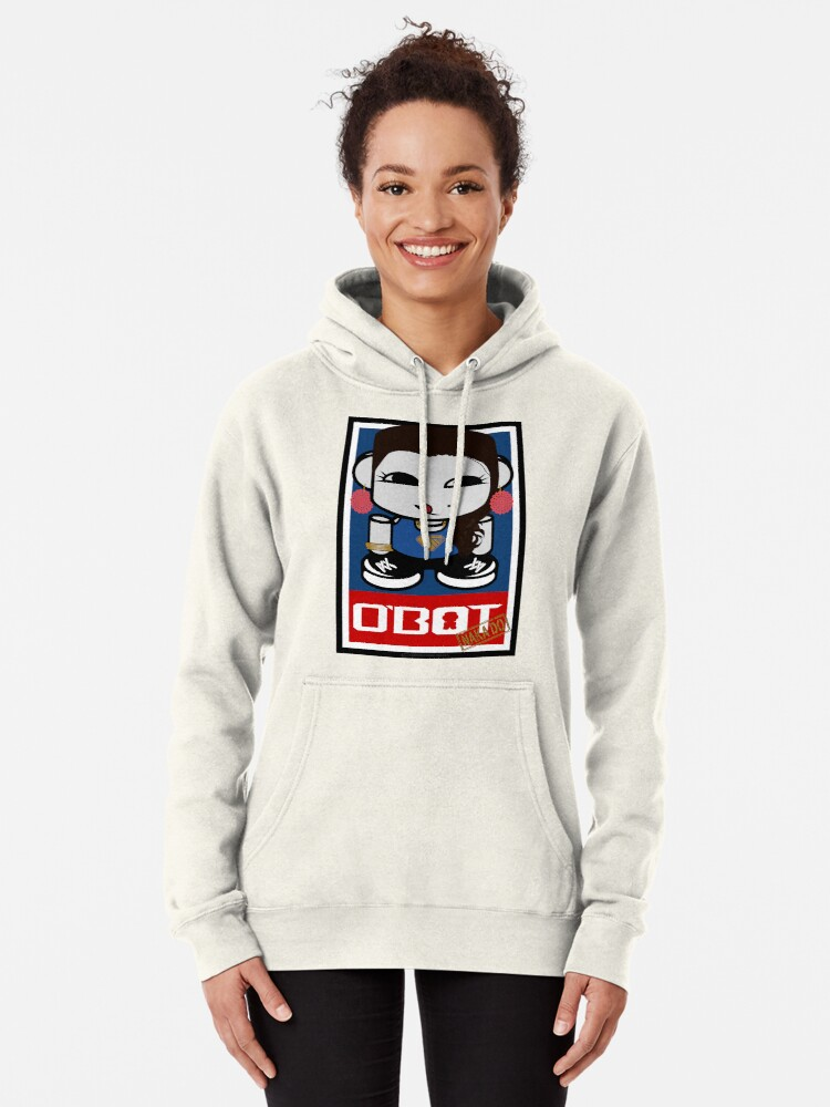 Alternate view of Naka Do O'BOT Toy Robot 2.0 Pullover Hoodie