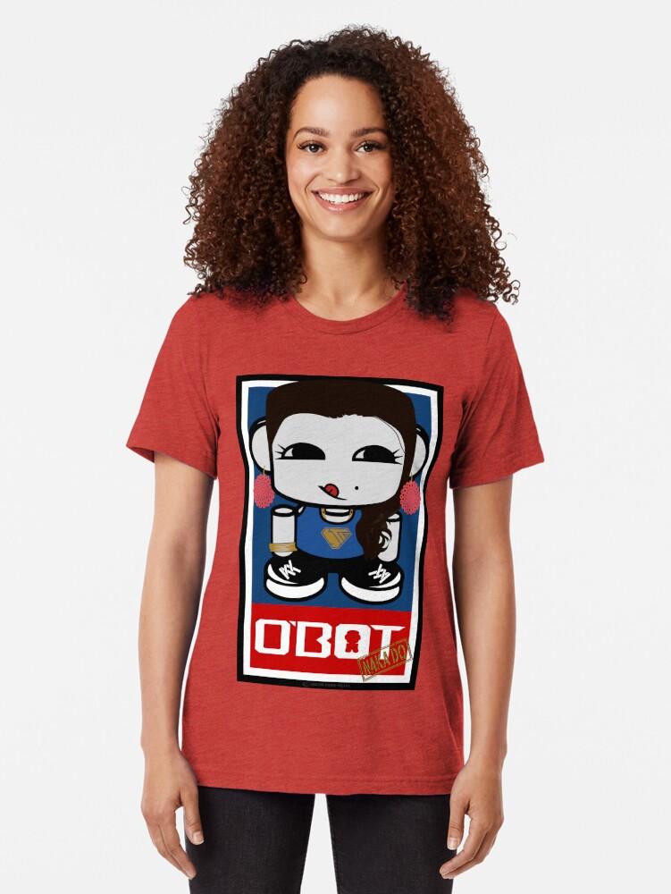 Alternate view of Naka Do O'BOT Toy Robot 2.0 Tri-blend T-Shirt