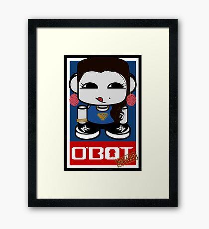 Naka Do O'BOT Toy Robot 2.0 Framed Art Print