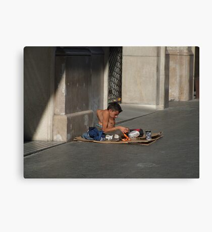 for the roads of Barcelona Canvas Print