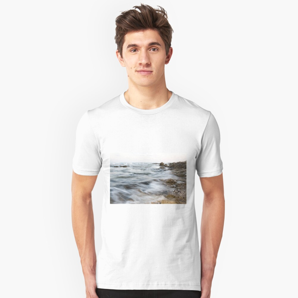 Rocks and sand on the seabed photographed in Israel  Slim Fit T-Shirt