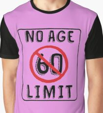 No Age Limit 60th Birthday Gifts Funny B Day For 60 Year Old Graphic T