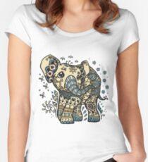 Mandala elephant Women's Fitted Scoop T-Shirt