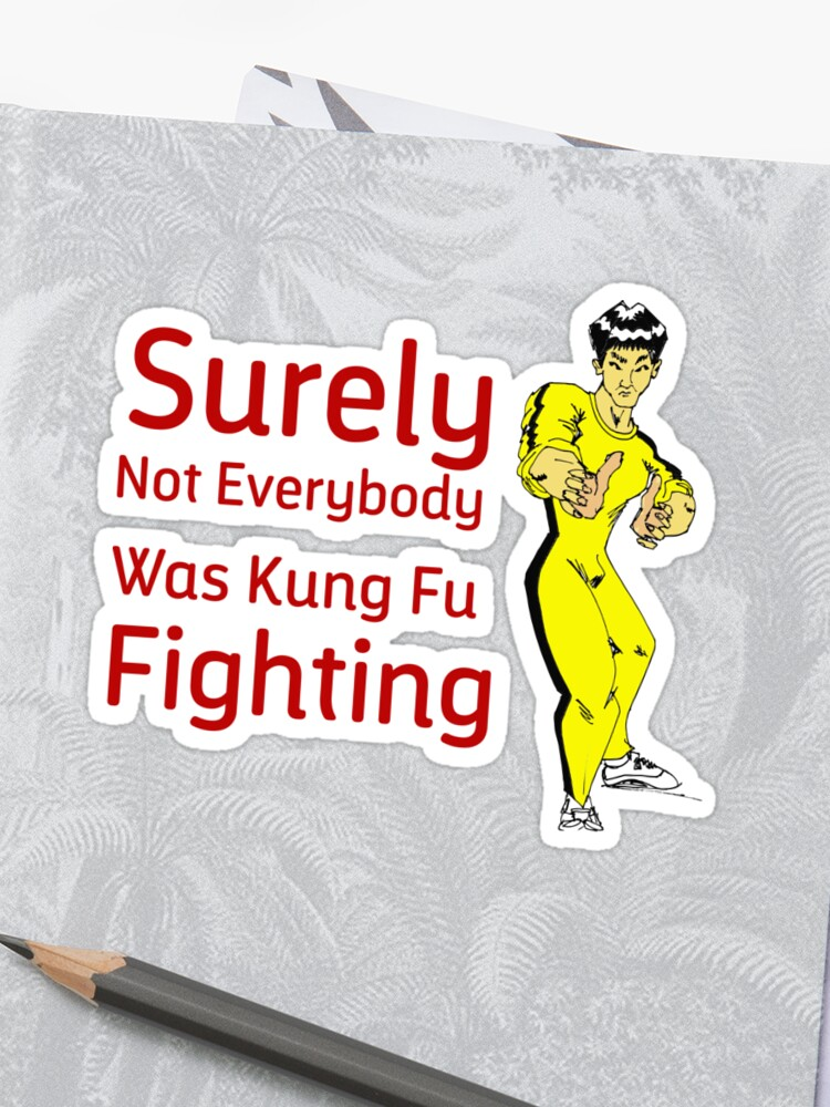 surely Not Everybody Was Kung Fu Fighting quote funny saying kung fu Gift  For Brother Gift for sister Best Friend Quotes Gift Gift For Boyfriend | ...