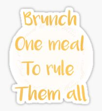 Lord Of The Brunch Sticker