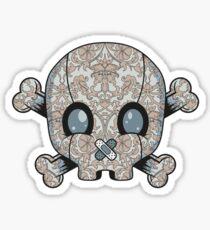 Damask Skull Sticker