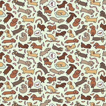 Wiener Dog Wonderland de KiraKiraDoodles