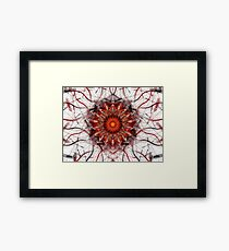 Scorching Sun - Abstract Fractal Artwork Framed Print