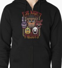Five Nights At Freddy's Pizzeria Multi-Character Zipped Hoodie