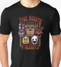 Five Nights At Freddy's Pizzeria Multi-Character Slim Fit T-Shirt