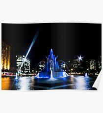 Fountain Blue Poster