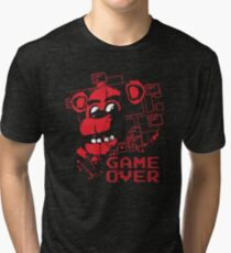 Five Nights At Freddy's Pizzeria Game Over Tri-blend T-Shirt