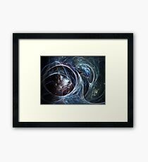 Spider's cave - Abstract Fractal Artwork Framed Print