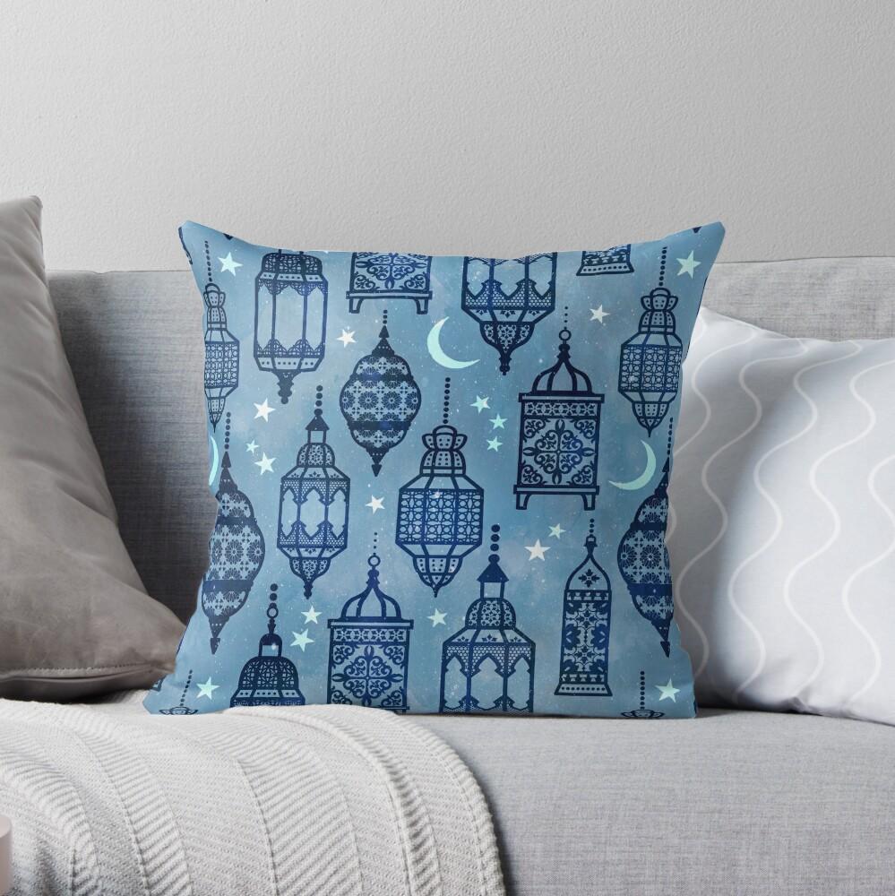 Marrakech nights light Throw Pillow