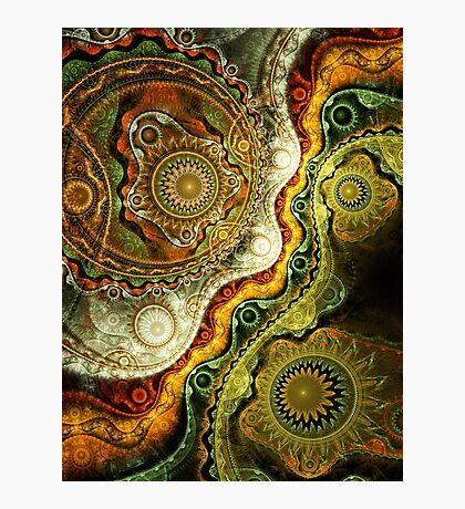 Autumn - Abstract Fractal Artwork Photographic Print