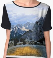 Alps In The Evening Chiffon Top