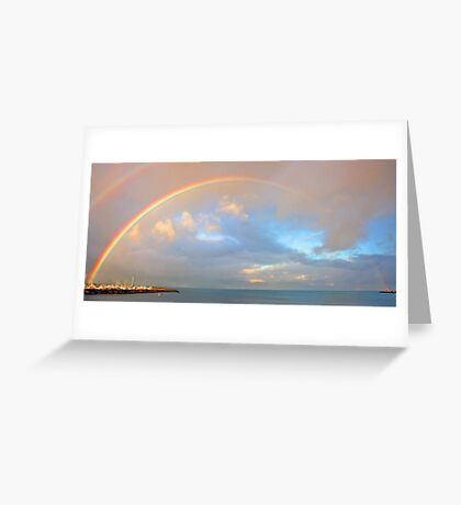 Rainbow Over Fremantle Harbour  Greeting Card