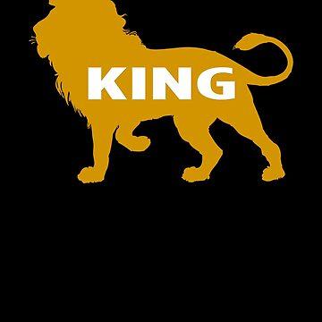 King Kemetic Lion Ancient Egyptian Art T Shirt by Rahimseven