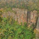 Purling Brook Falls .. wide view by Michael Matthews