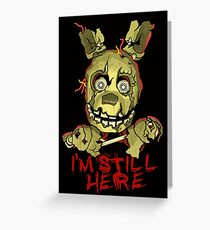 Five Nights At Freddy's Springtrap Greeting Card