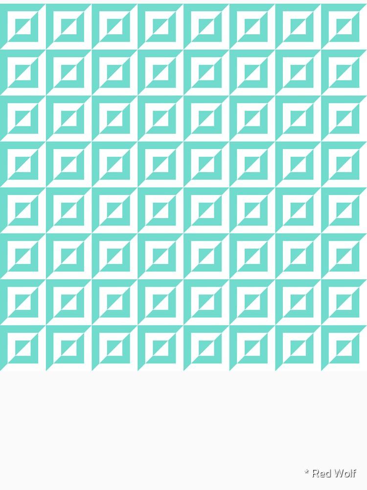 Geometric Pattern: Square Split: Blue by redwolfoz