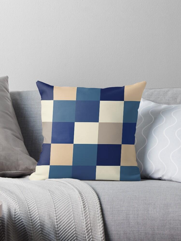 Quadratisches Muster (Ozeanblau) von Lucas Dietrich
