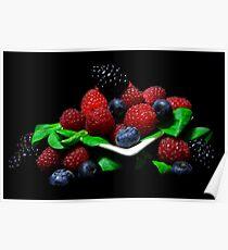 I Love Berries Poster
