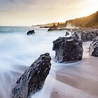 Sunset at Great Mattiscombe, Devon by Justin Foulkes