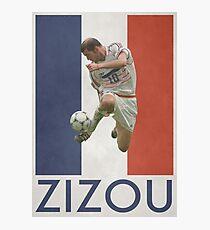 Fußball - Zidane Fotodruck