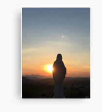 Mary of Medjugorje - Sunset Canvas Print