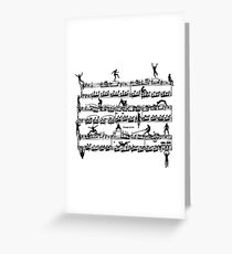 Mozart Men Greeting Card